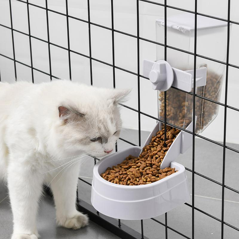 Haustier Katzen Papageien Vögel Dispenser Taube Feeder Bowl Cat Hundekäfig Hängende Geräte Produkt Schüsseln Feeder