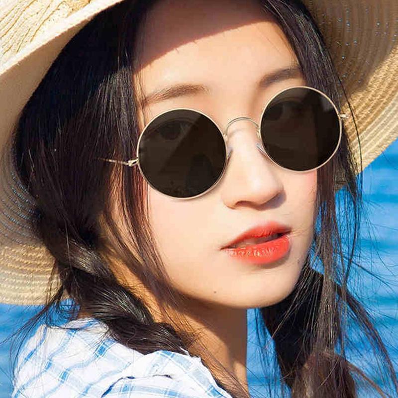 Sonnenbrille Runde Kleine Vintage Frauen Mujer Eyewear Marke UV400 Rahmen Männer Spiegel Sonnenbrille Metall Sexy Designer Chhwert