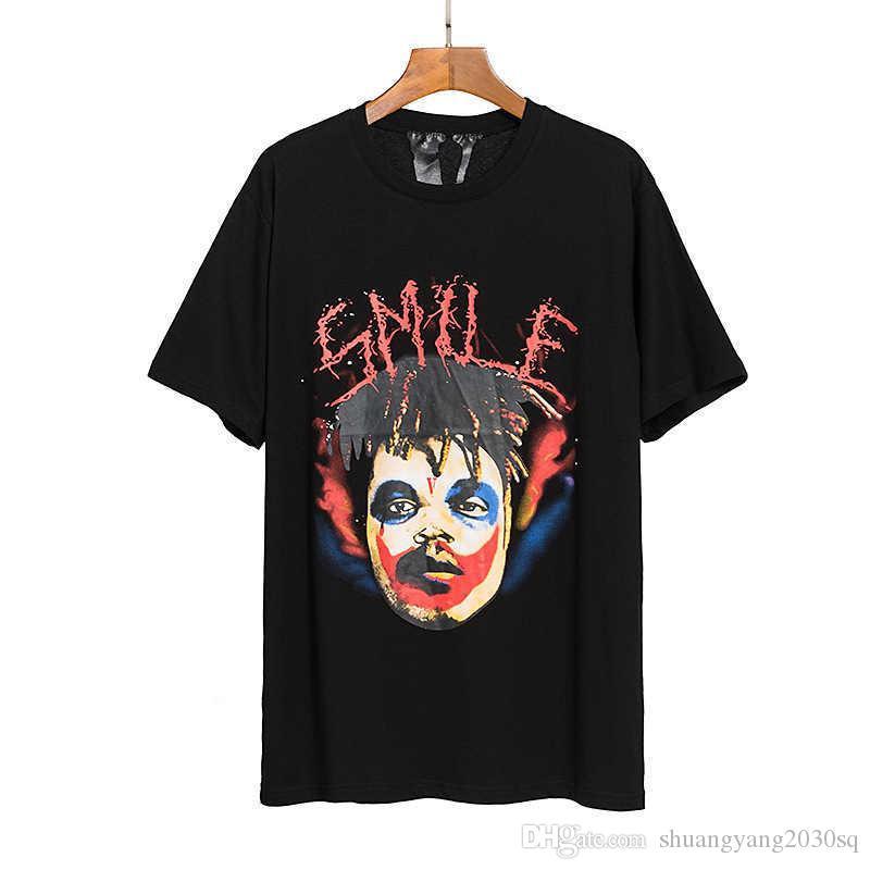 Summer Tide New Mens Tops Top Tees Clown Stampa Bigv Hip-Hop T-shirt casual a maniche corte per uomo e donna