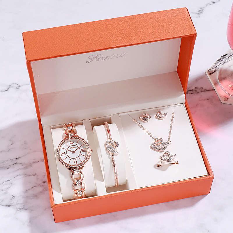 regarder fsiena tiktok, rouge, bracelet simple cinq ensemble de dames haut de gamme occasionnelles