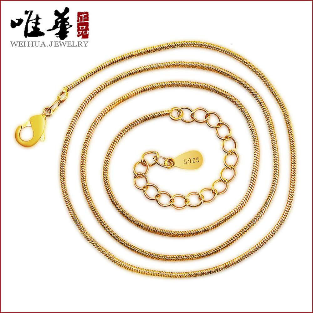necklace Vacuum electroplating jewelry snake bone chain with clavicle round Bone female