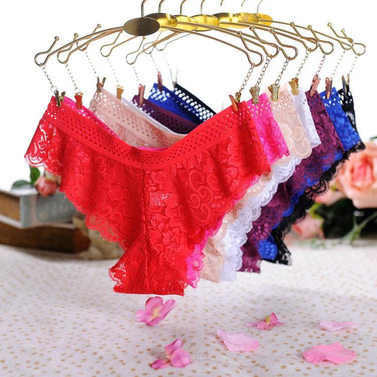 Lace Sexy Women's Biancheria intima Alleure Hollow Balotte per il perizoma a vita bassa comoda biancheria intima da donna sexy 3303
