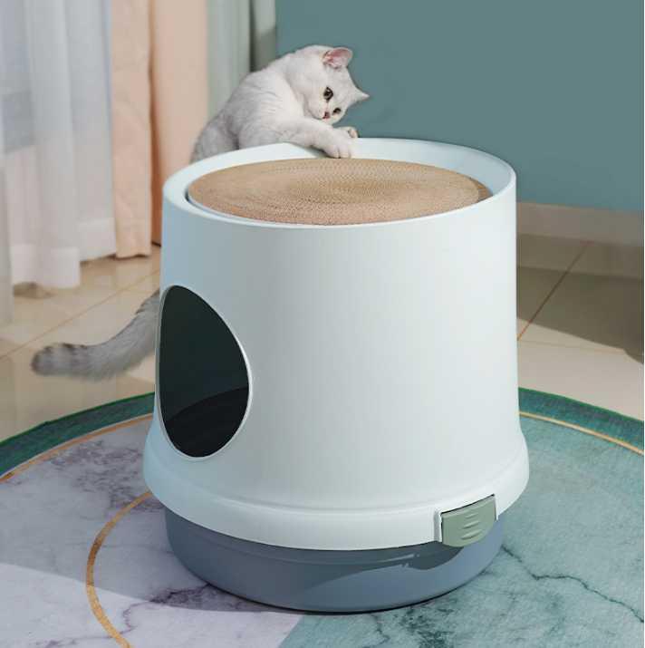 Diğer Kedi Malzemeleri Basit Çöp Havzası Tamamen Kapalı Boy Anti Sıçrama ve Koku Tuvalet PP Ürünler