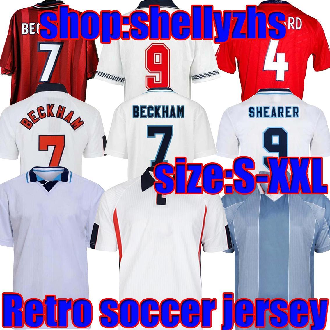 1986 1996 Angland Retro Jerseys 1982 98 2002 2008 2008 Sharer Beckham Soccer Jersey 1989 1990 Mash Up Gerrard Scholes Owen 1994 Gascoigne старинные классические футболки