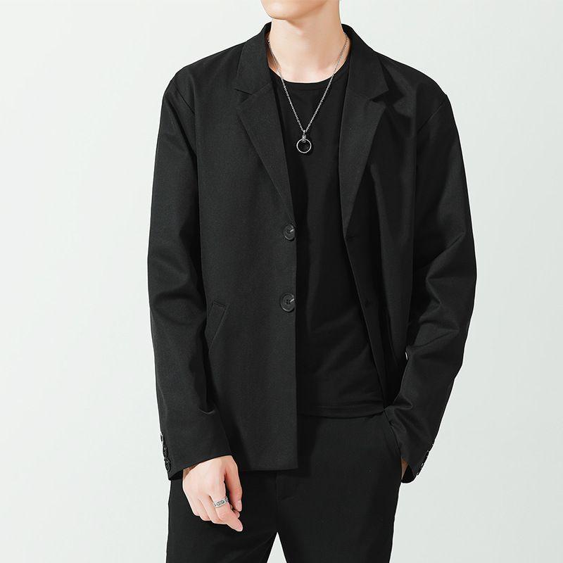 Casual Traje Abrigo Suelto DK Uniforme Top Coreano Moda Spring Men's Traje Yuppie Hermoso Traje Pequeño