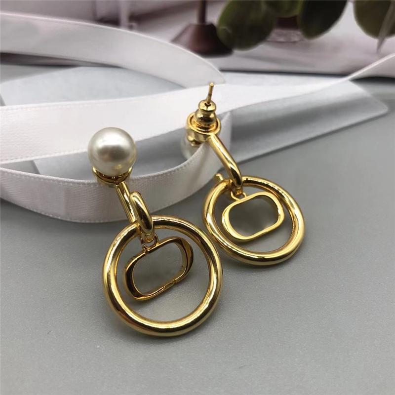 Orecchini di moda per le donne anniversario Gli amanti presentano l'amore Orecchini in Gold Gold Orecchini Designer Designer Designer perle orecchini 2021050701V