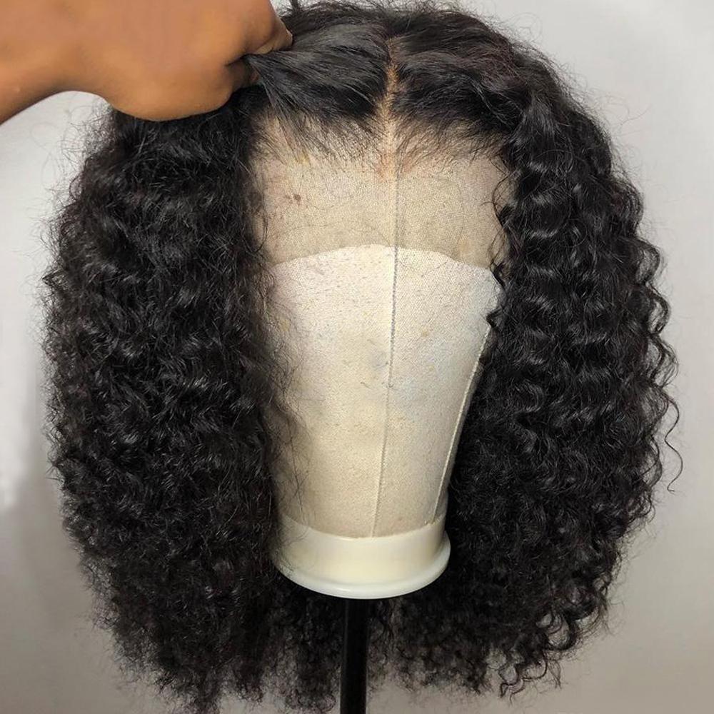 Brezilyalı Virgin İnsan Saç Peruk Dantel Ön Siyah Renk Ön Kopardı Doğal Saç Çizgisi Bleach Düğüm 360 Kısa