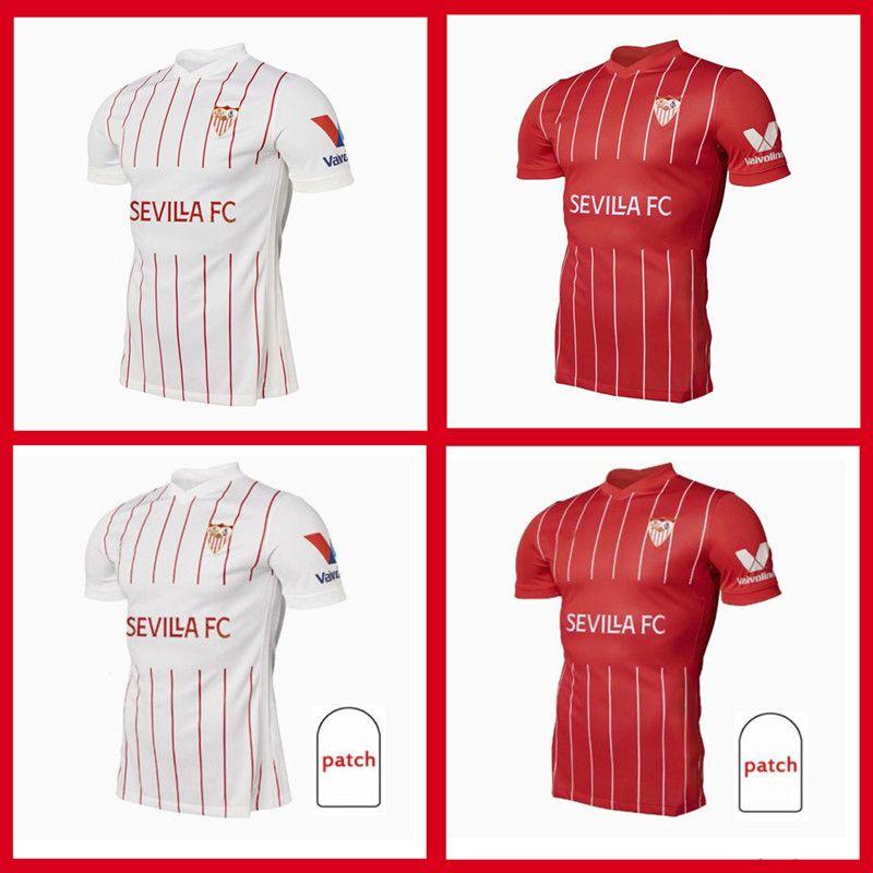 21/22 FC Sevilla Soccer Jersey 2021-2022 من أي وقت مضى Banega En-Nesyri Navas de Jong El Haddadi Reguilon كرة القدم قميص الرجال Camisetas Futbol
