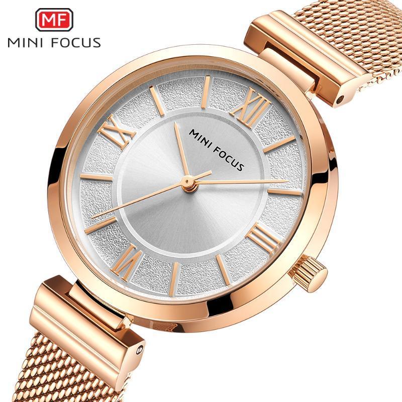 Montres-bracelets Mini Focus Femme Montres Top 2021 Mode Imperméable Rose Gold Watch Dames Inox Steel Relogio Feminino