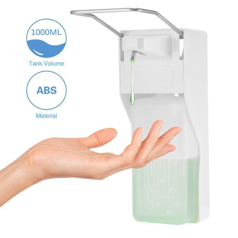 Distributeur de savon de la voiture Distributeur de savon 1000 ml Désintification murale Mode mural Pompe de presse au coude pour la maison