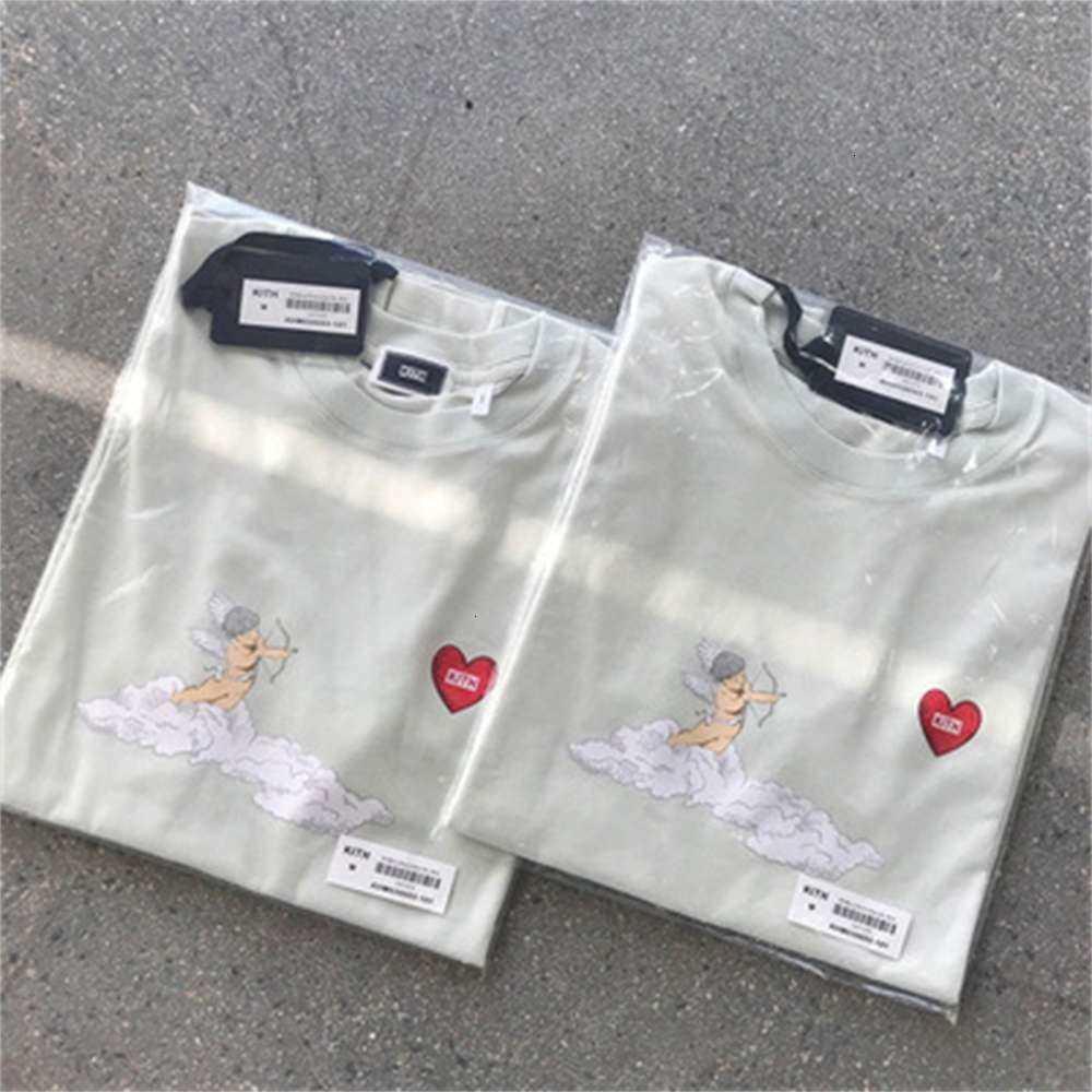 Высококачественный модный бренд Kith Animation Myth Cupid Love Bog Fit-рубашка клоун с коротким рукавом