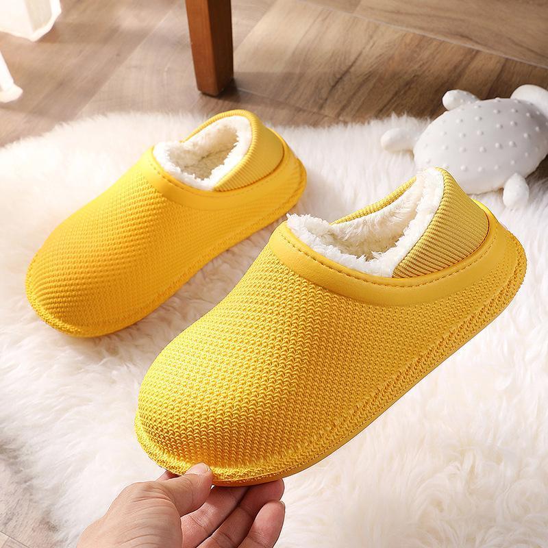 Slipper Winter Autumn Slippers Kids Toddler Girl Baby Boys Fur Slides Cotton Indoor Shoes Warm Fluffy House Children