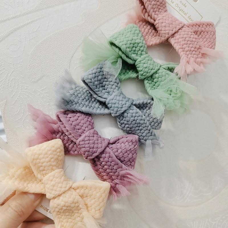 Simple Hair Clips Bow Knotted Clip for Children Head