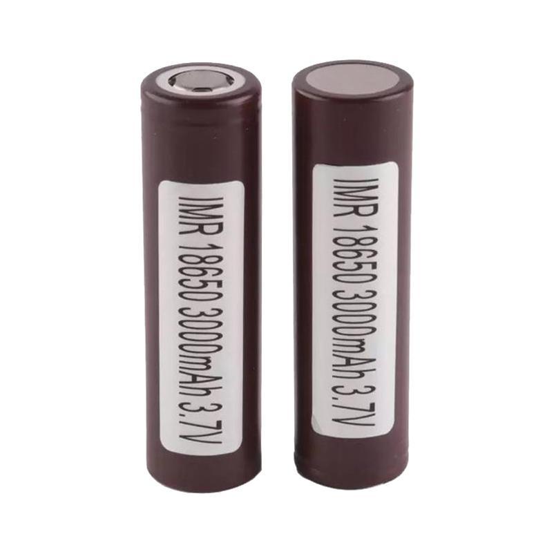 300 unids 100% alta calidad para LG HG2 18650 Batería 3000mAh IMR 3.7V para LG Sony Samsung Recargable Baterías de litio Cell