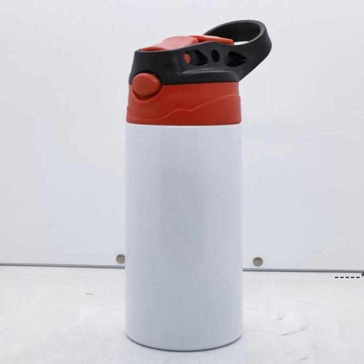 New12oz dritto sippy tazze tazze sublimazione tazze per bambini in acciaio inox bottiglie d'acqua in acciaio inox doppio sottovuoto isolante portatile bicchieri da bere bicchieri Zza7