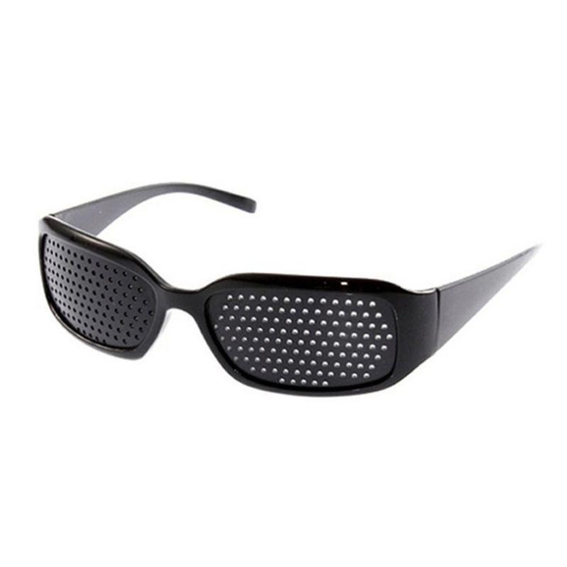 الحزب الإحسان النظارات الشمسية النساء الرجال مكافحة التعب الرؤية الرعاية دبوس هول النظارات الدقيقة العين ممارسة مكافحة قصر النظر