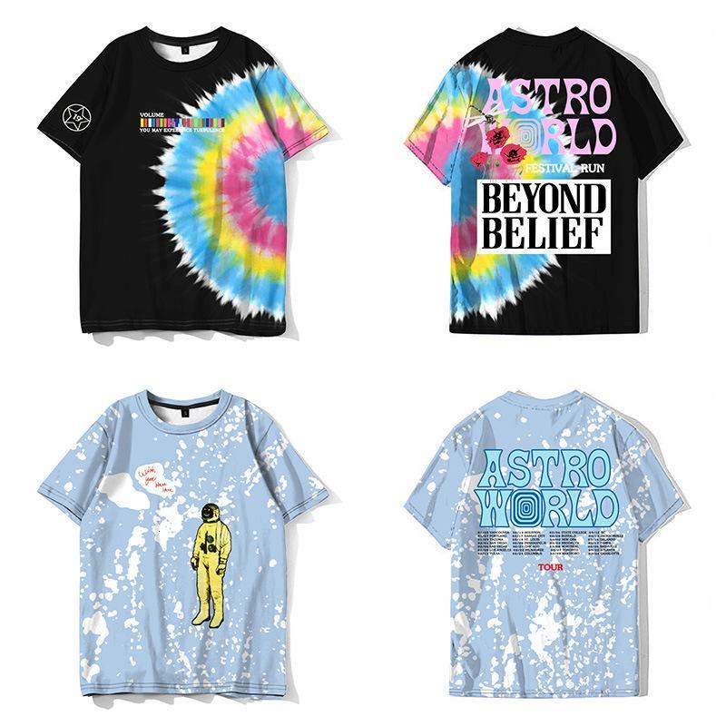 Festival Astroworld Travis Scott Feliz Rosto Tee Alta Qualidade Camiseta Homens Mulheres Astroworld T-Shirts