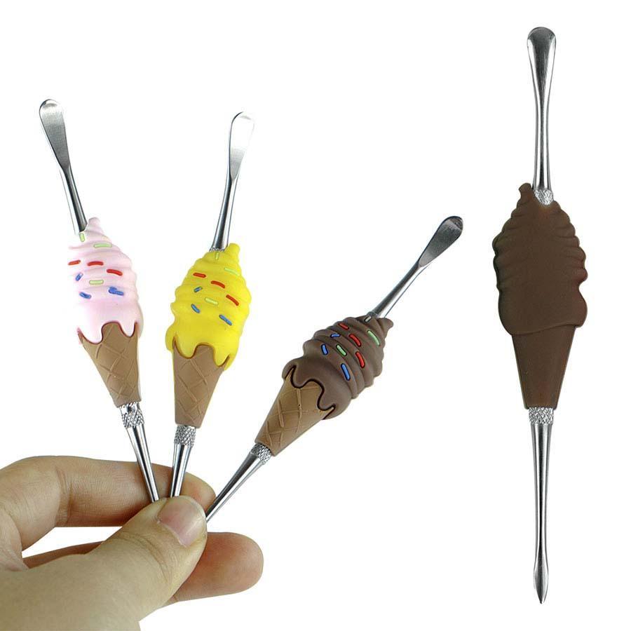 Balmumu Dabber Araçları Sigara DAB Aracı Dondurma Şeklinde Sigara İçme Kullanımı