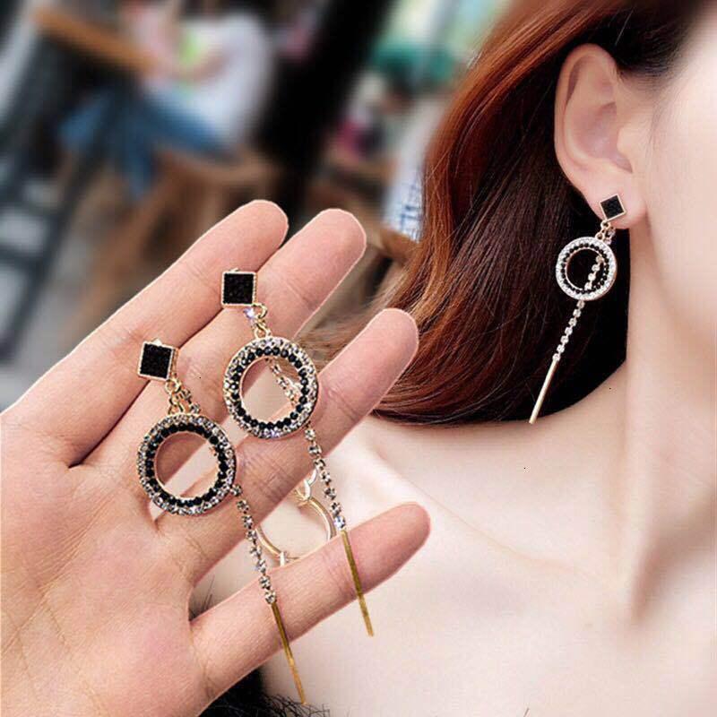 02CO 70% от темперамента длинные кореец 925 серебряная игла преувеличена кисточкой круглые бриллиантовые серьги для женщин