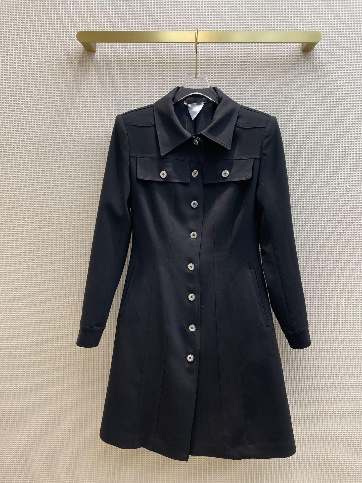 Milan pist elbiseler 2021 sonbahar yaka boyun uzun kollu panelli kadın tasarımcı elbise markası aynı stil giyim 0822-25