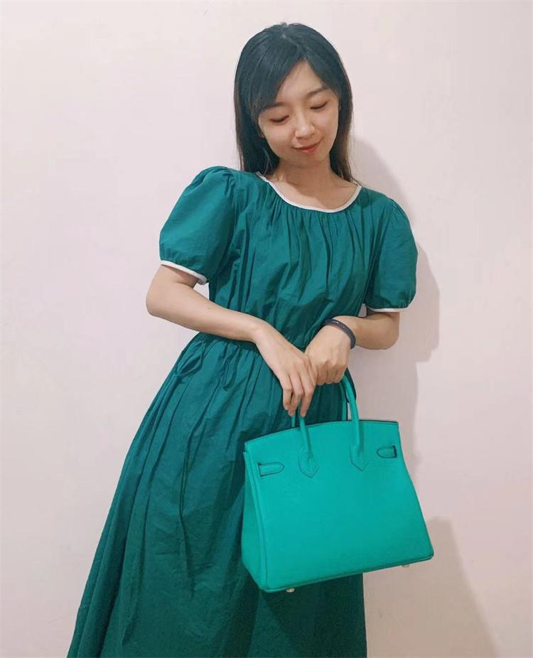 Lake Green Color Women Tote Famous Brand Shopping Bag Handbag Lady Special Purses 100% Real Leather Fashion Wallet for Work/Date with Luxury design Gift Packing