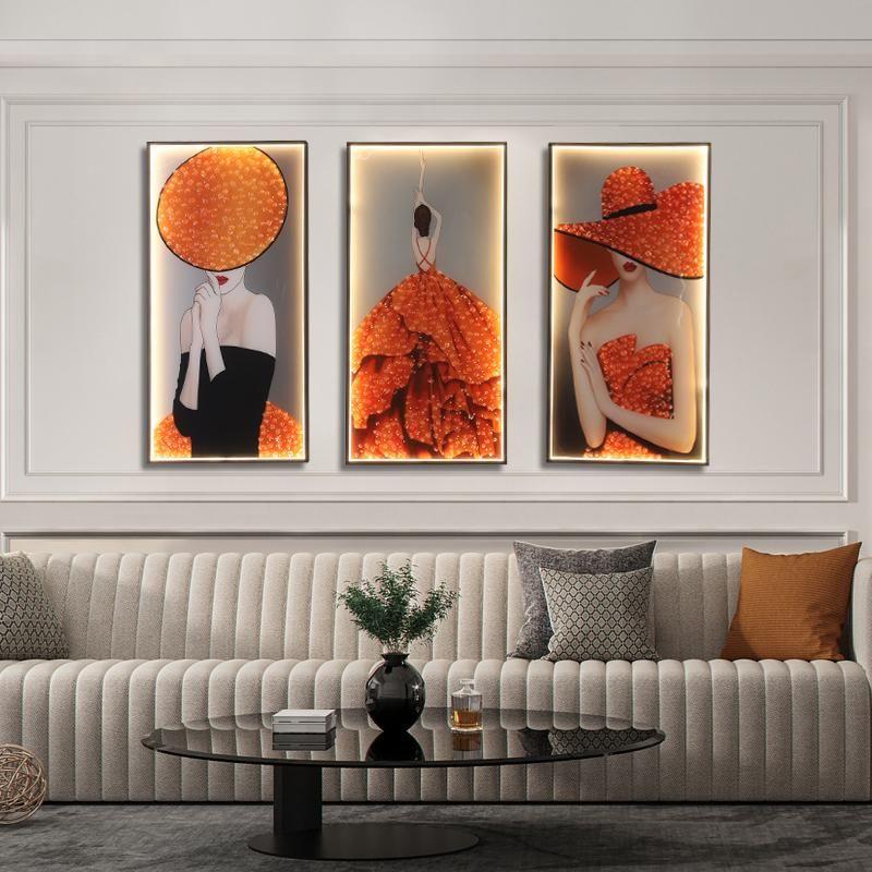 Wandlampen Moderne Mode Drei Stücke Anzug Sconces Beleuchtung LED kreativ für Home Lampe