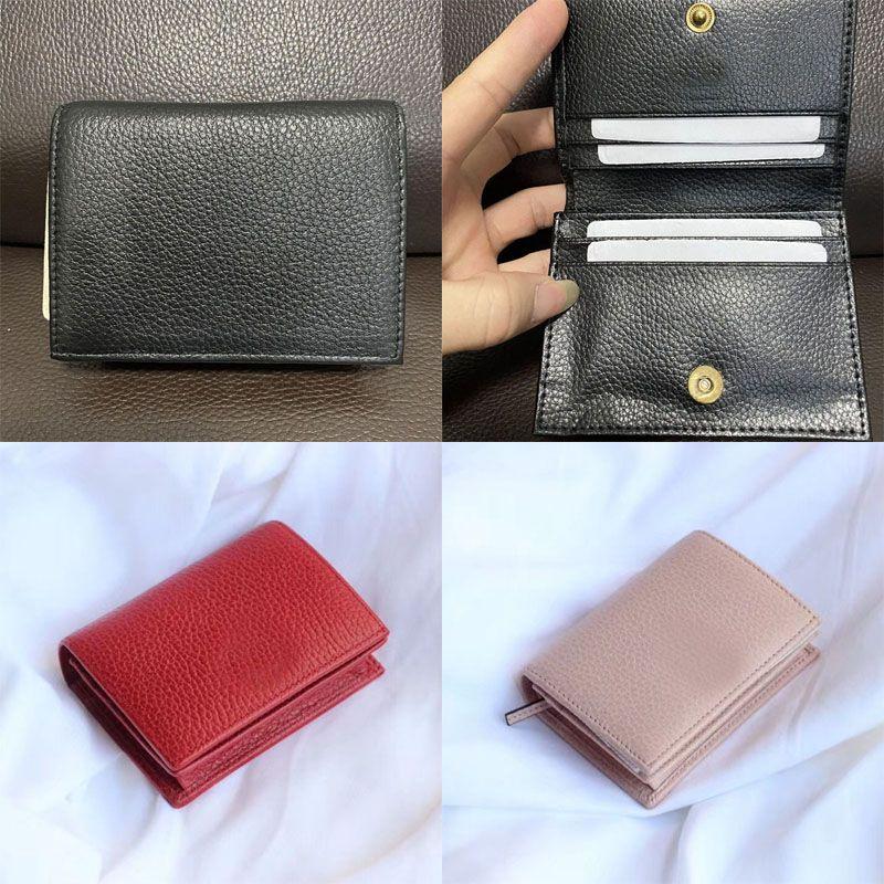 클래식 지갑 Luxurys 디자이너 카드 케이스 패션 여성 동전 파우치 지갑 미니 짧은 지갑 여자 주요 신용 카드 홀더 클러치 Portefeuille Portafoglio