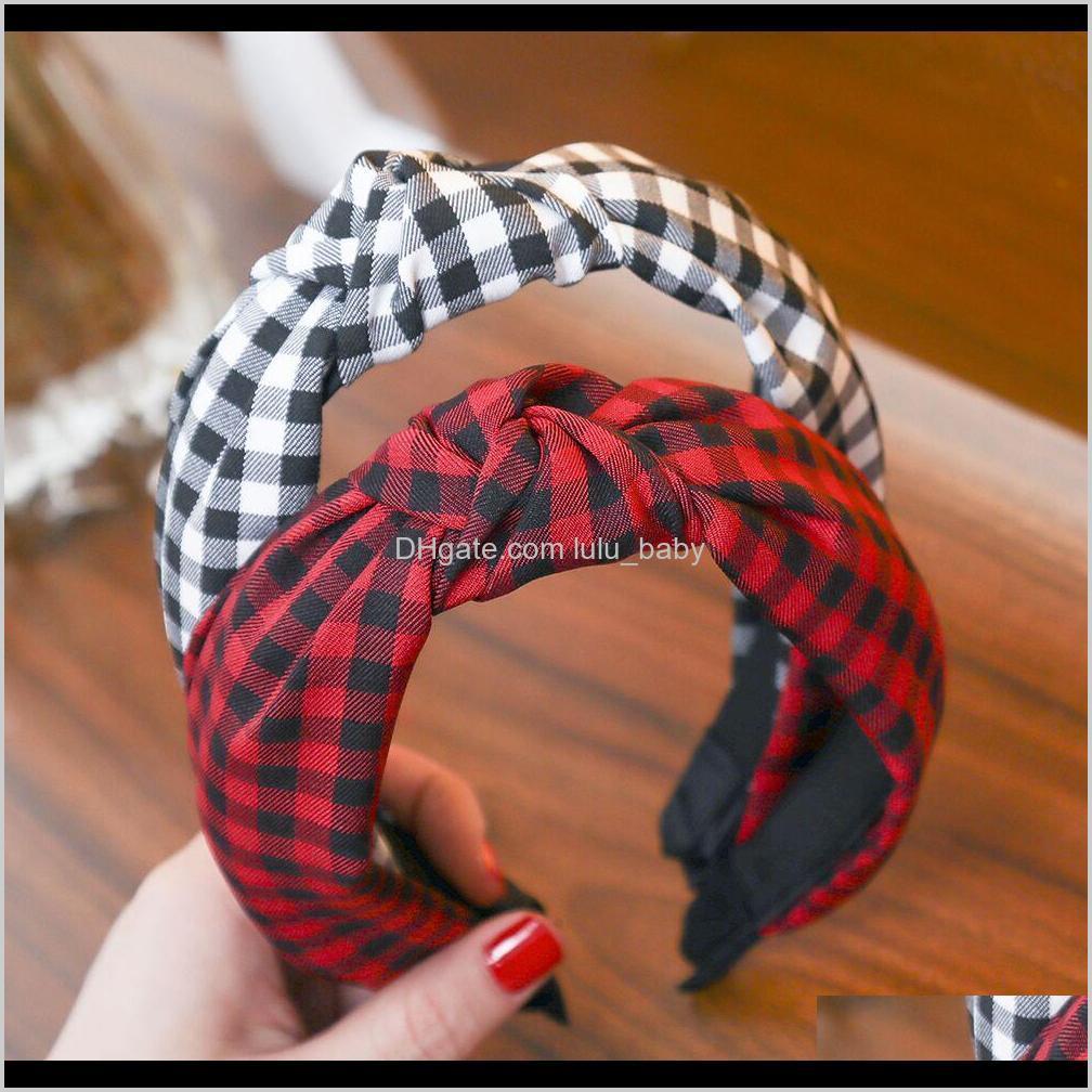 Haimeikang منقوشة قطنية الملحقات معقود الشعر الفرقة للنساء رباطات hairbands أغطية الرأس الأزياء C2WWT عقال كلموز