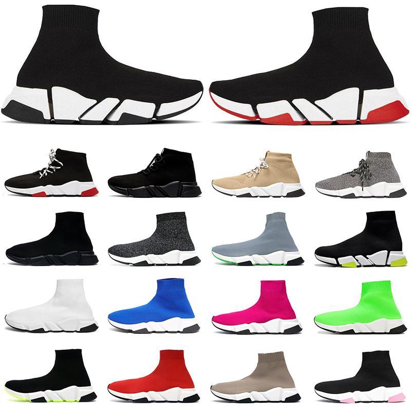 2021 shoes hombres mujeres zapatos casuales zapatillas de deporte de alta moda triple negro blanco rojo rosa amarillo Cristal Beige Gris zapatillas de tenis para hombre