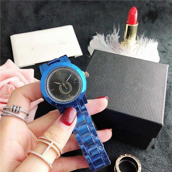36.5mm Bayan Renkli İzle Dial Moda Kuvars Saatler Kişilik Tarzı Eğilim Erkekler Ve Kadınlar Çiftler Çok Renkli