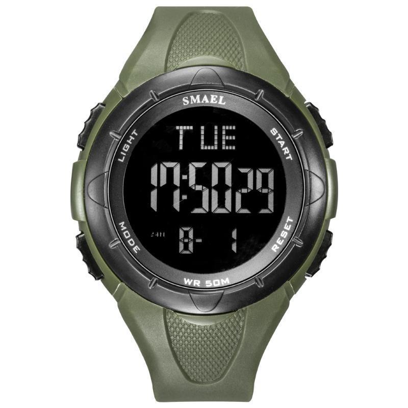 남성용 Smael 디지털 손목 시계 스포츠 LED 디스플레이 전자 시계 남성 알람 시계 크로노 그래프 hombre 팬싱 시계 손목 시계