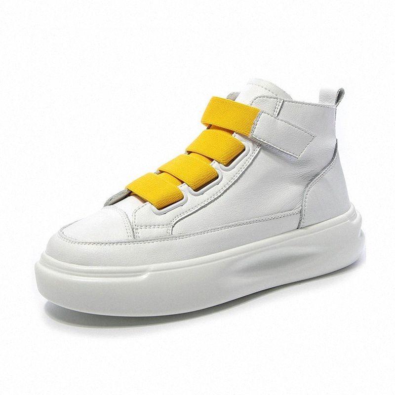 Bayan Yüksek Üst Sneakers Düz Platformu Ayakkabı 2019 Bahar Sonbahar Casual Beyaz Ayakkabı Kadın Tıknaz Sneakers Kadın Ayakkabı Yürüyüş Ayakkabı Düz Ayakkabı Q52U #