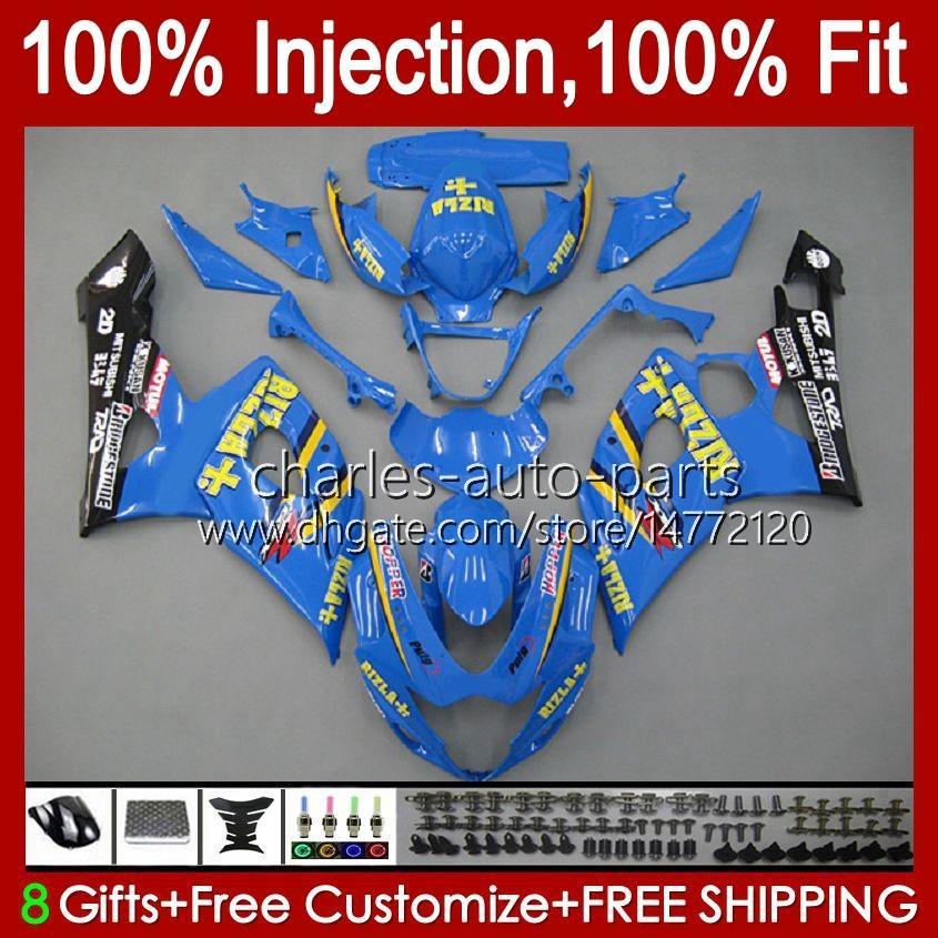 Body Injection Mold For SUZUKI GSXR 1000CC 1000 CC K5 GSXR1000 05 06 Bodywork 11HC.82 GSXR-1000 2005 2006 Cowling GSX-R1000 GSX R1000 05-06 OEM Fairing glossy cyan blk