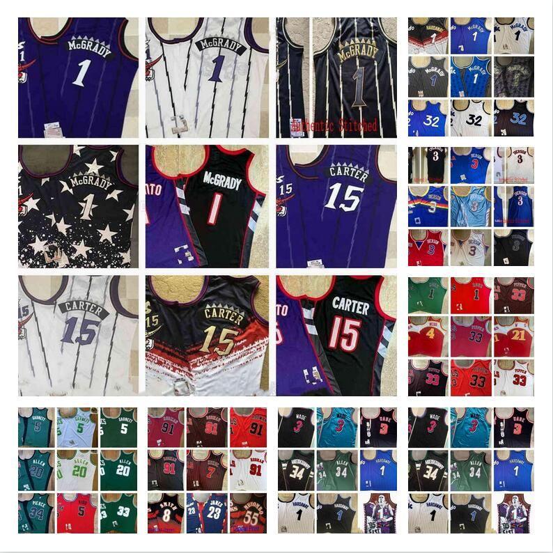 Echt genähter Retro-Basketball 23 Lebron 4 Spud James Webb-Jerseys Authentic Stickerei Qualität Jersey Digital Print 55 Dikembe 8 Steve Mutombo Smith