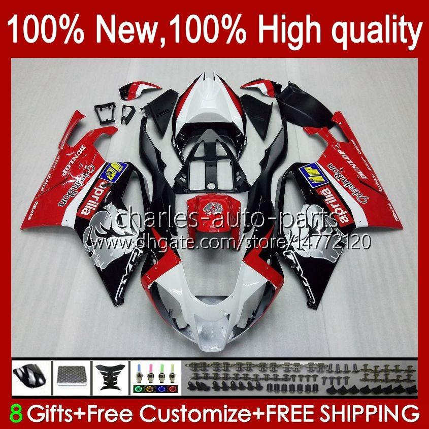 Fairings de Moto para Aprilia RSV1000R Mille RV60 RV-1000 RSV1000 R $ 04 05 06 Bodywork 11No.0 RSV1000RR RSV 1000 R1000R 1000RR 2004 2005 Bodys Kit Factory Red