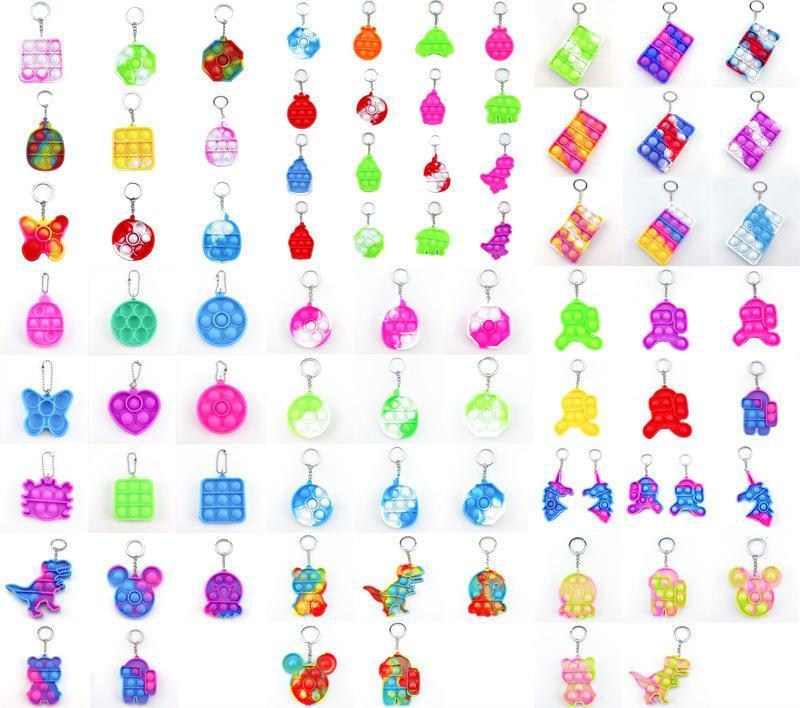 DHL envío niños adulto empuje burbuja fidget sensory juguete llavero anillo juguete educativo antiestrés fidget juguetes descompresión juguete llavero