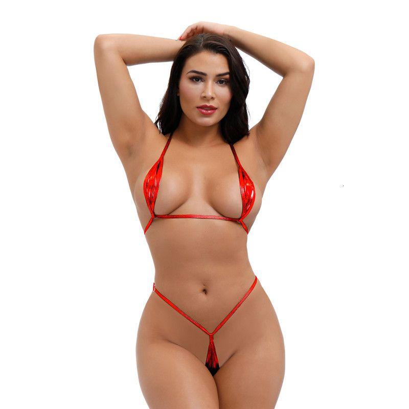 2021 Micro Bikini PLUS Taille Maillot de bain Maillot de bain Femmes Biquini Bikinis Cuir Pattent Cuir Bronzing String String String Dentelle Discothèque