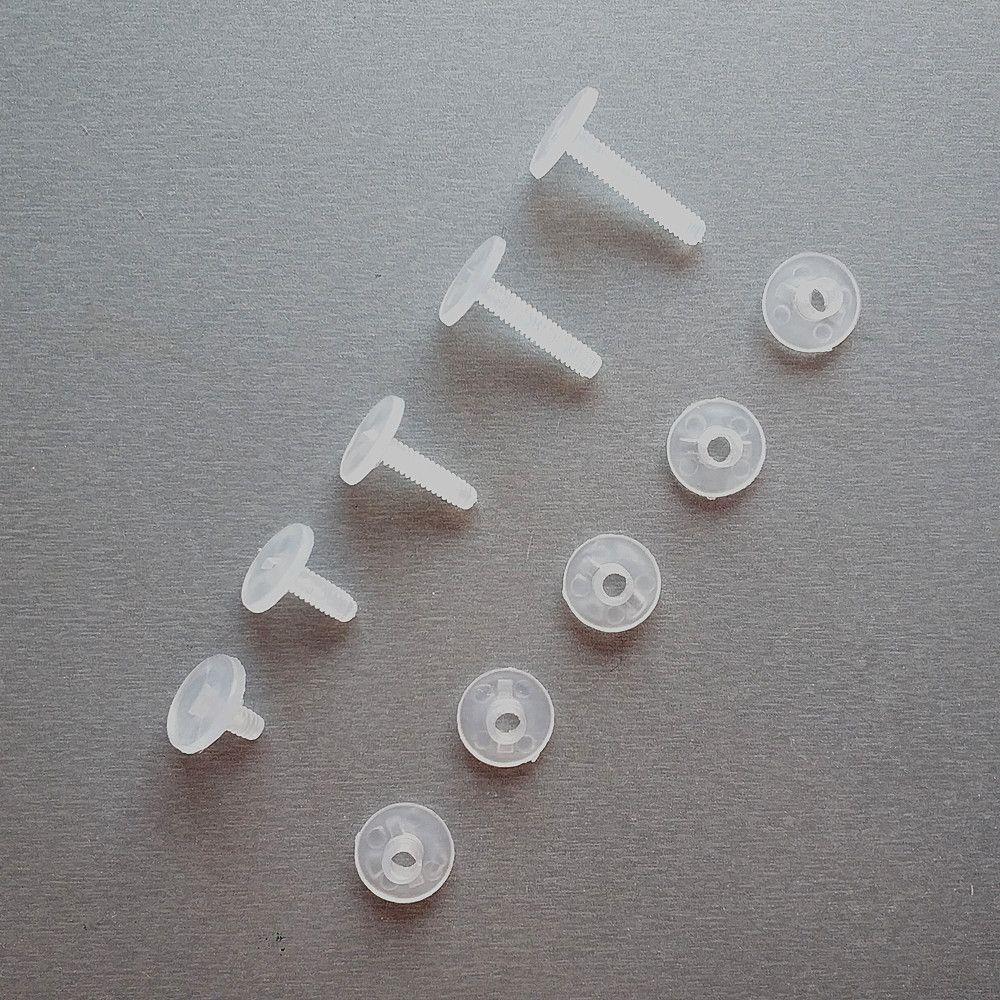 소매 용품 플라스틱 바인딩 골판지 너트 패스너 나사 나일론 바인더 포스트 잠금 버튼 리벳 스터드 핸드 환경 200sets