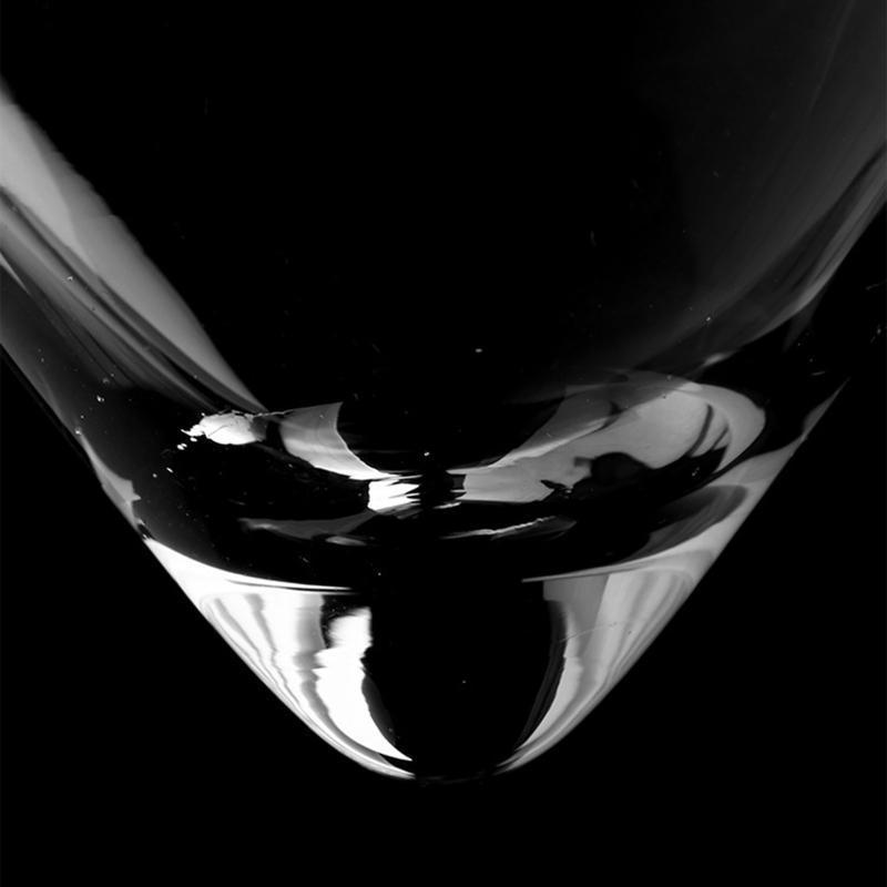 분자 혼합물 층간 삼각형 칵테일 아이스 크리스탈 와인 유리 콘 37MF 안경