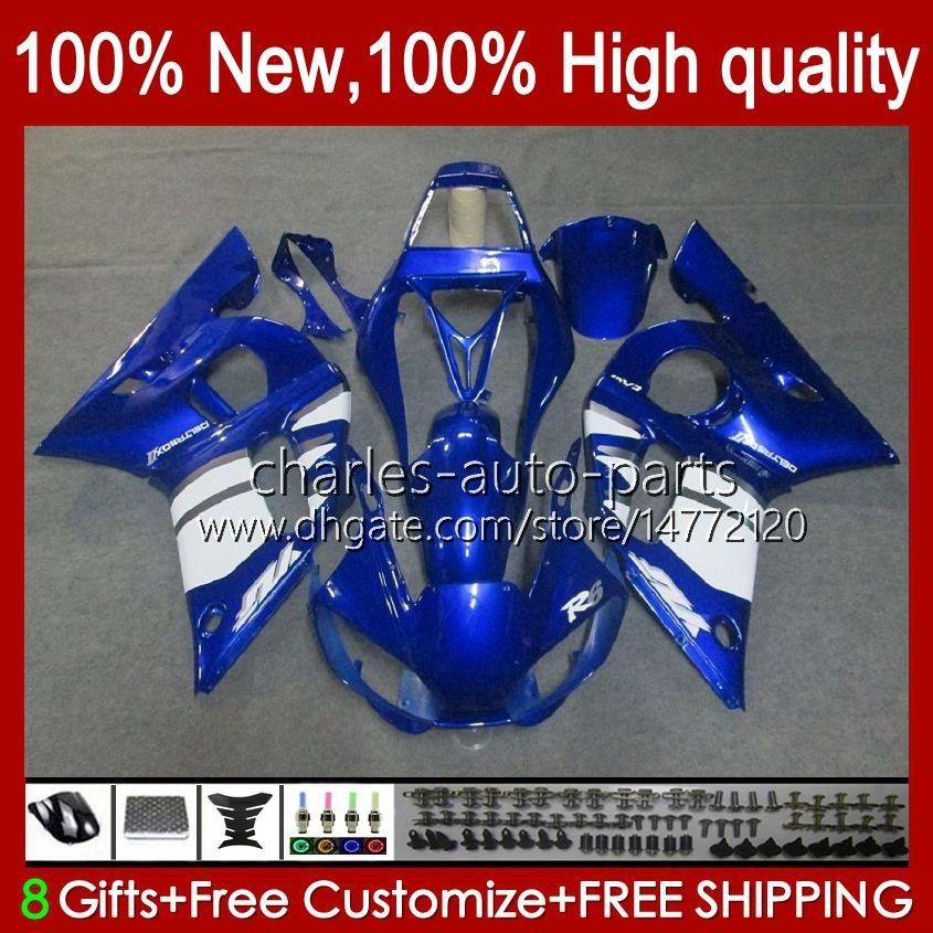 BODOS PARA YAMAHA YZF-600 YZF R6 R 6 600CC YZFR6 1998 1999 00 01 02 Bodywork 1No.8 YZF 600 CC Cowling YZF-R6 98-02 YZF600 98 99 2000 2001 2002 ABS Kit de carenado azul