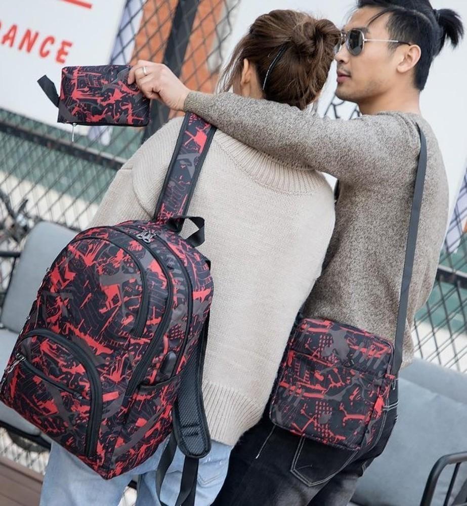 Hot Outtür Outdoor-Taschen Camouflage Reiserucksack Computertasche Oxford Bremskette Mittelschule Student Bag viele Farben Mix XSD1000