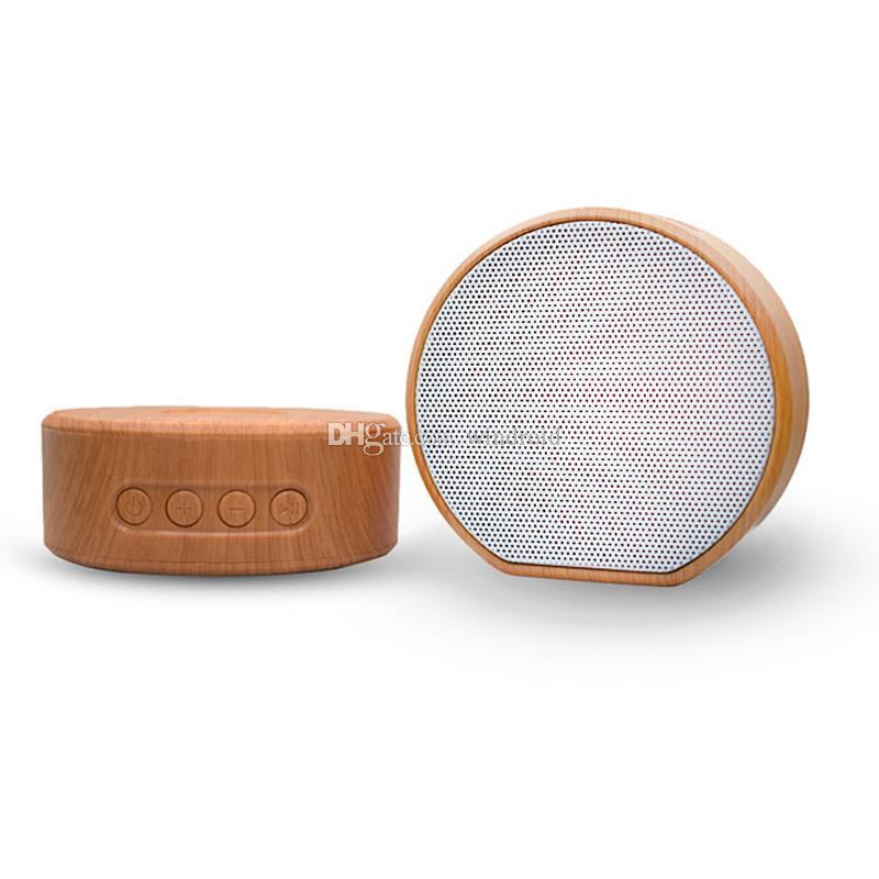 Altavoz Bluetooth A60 Bluetooth Subwoofer inalámbrico portátil Reproductor de MP3 FM Radio Audio TF Tarjeta USB Play Manos libres de manos Llamadas al aire libre de madera