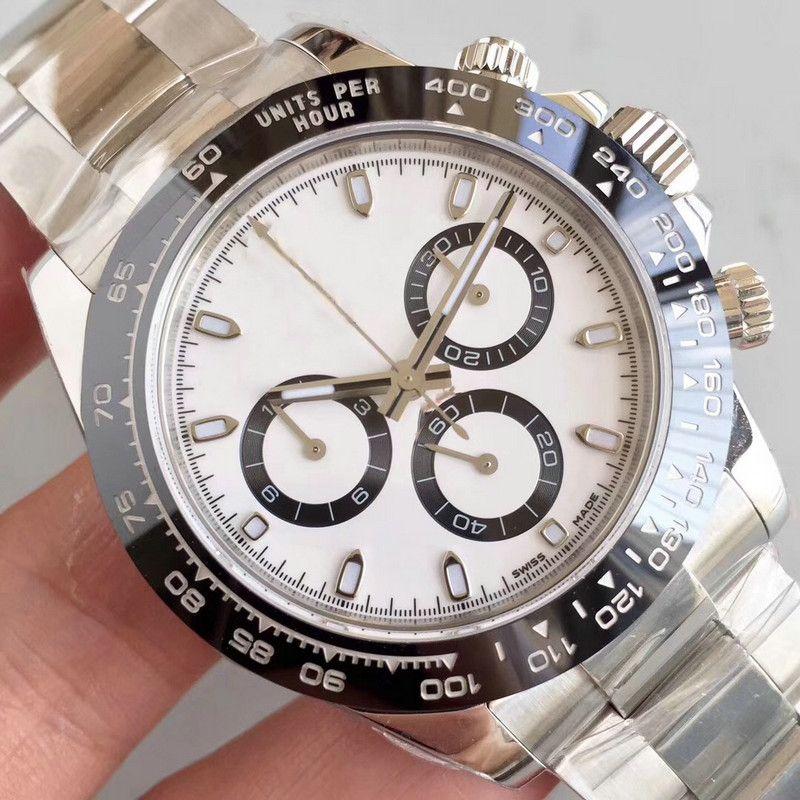 Bracelet de la lunette en céramique de mode Mens de luxe Mécanique en acier inoxydable 2813 Mouvement automatique Hommes Watch Sport Montres Montres Designer