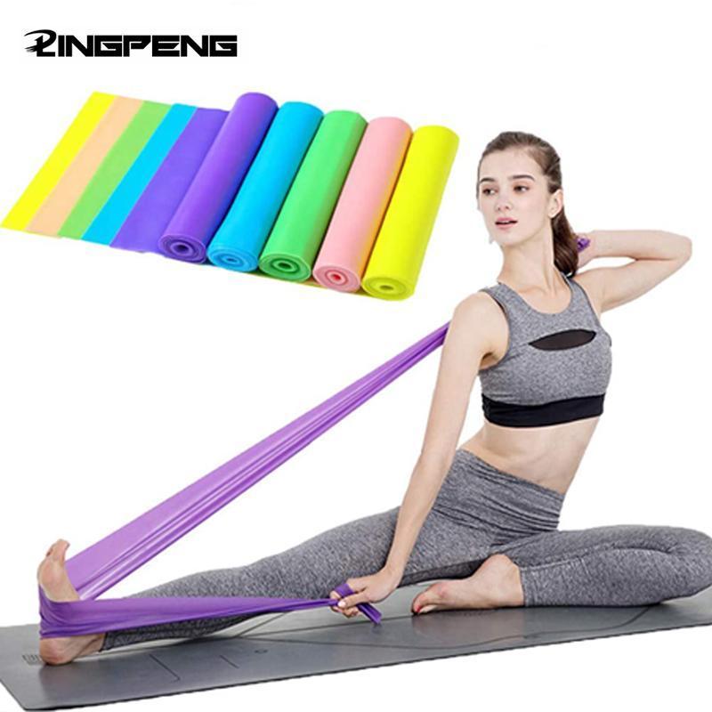 1.5 / 2m ioga elástico elástico estiramento de borracha aptidão exercício exercício equipamento e bandas