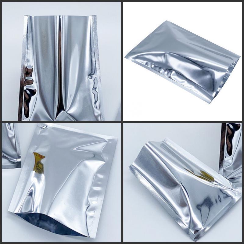 Sacchetti di foglio di alluminio argento Sigillo di calore Sacchetti per vuoto Borsa Segui Cibo Polvere Polvere Storage Mylar Foil Imballaggio Stoccaggio Bag3 85 S2