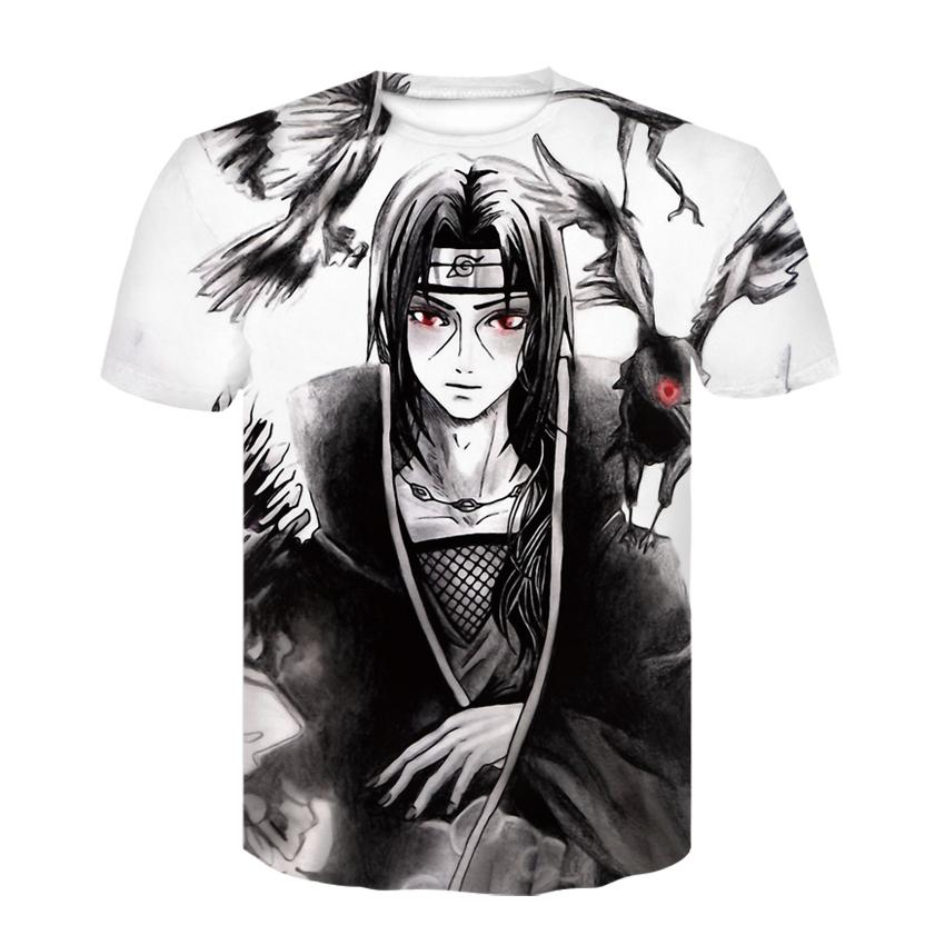 Deportes de moda transpirable verano nuevo para hombre camiseta 3d impresión camiseta tokyo ghoul patrón camiseta material suave y com