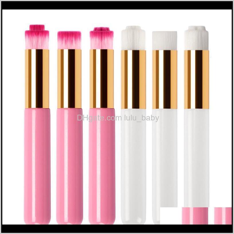 المهنية الفرشاة البثرة فرشاة العين لاش شامبو فرشاة الحاجب الأنف أدوات ماكياج الجمال منظف الوردي الأبيض 3 أنواع رئيس QK8DM IMT5X