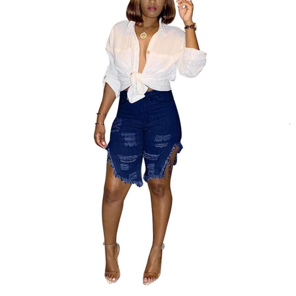 Mulheres Mulheres Clássicas Roupas Curtas Ressactadas Esticamento Denim Senhoras Senhoras Verão Alto Motociclista Demin Jeans