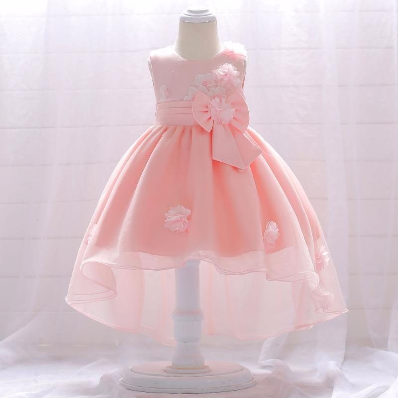 Yıl Bebek Kız Elbise Dantel Prenses Kız Vaftiz Toddler Çocuk Giysileri 1. İlk Doğum Günü Kıyafetleri Infantil Vestido Kızın Elbiseleri