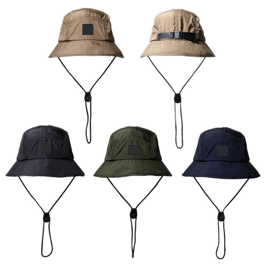 جديد الأزياء دلو قبعة طوي الصياد قبعة للجنسين مصمم في الهواء الطلق sunhat التنزه تسلق الصيد شاطئ الصيد القبعات الرجال رسم سلسلة قبعة